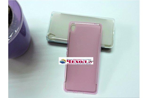 """Ультра-тонкая полимерная из мягкого качественного силикона задняя панель-чехол-накладка для sony xperia xa / xa dual 5.0"""" (f3113/ f3112 / f3115 /e6533) розовая"""