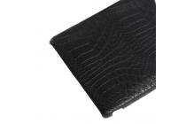 Роскошная элитная премиальная задняя панель-крышка для sony xperia z3 d6603/ z3 dual d6633 из качественной кожи буйвола с визитницей черный