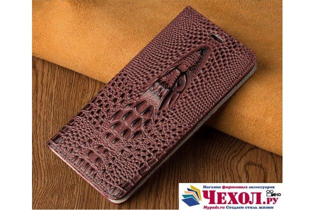 Роскошный эксклюзивный чехол с объёмным 3d изображением кожи крокодила для sony xperia z3 d6603/ z3 dual d6633 темно-красный. только в нашем магазине. количество ограничено