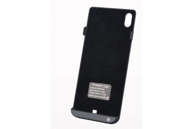Чехол-бампер со встроенным усиленным аккумулятором большой повышенной расширенной ёмкости 3500 mah для sony xperia z4 /z3+ /z3+ dual черный + гарантия
