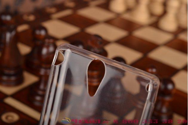 Ультра-тонкая из мягкого качественного силикона задняя панель-чехол-накладка для sony xperia t2 ultra/ t2 ultra dual d5303/d5322 белая