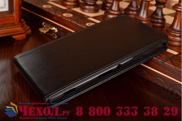 Вертикальный откидной чехол-флип для sony xperia t2 ultra/ t2 ultra dual d5303/d5322 черный кожаный