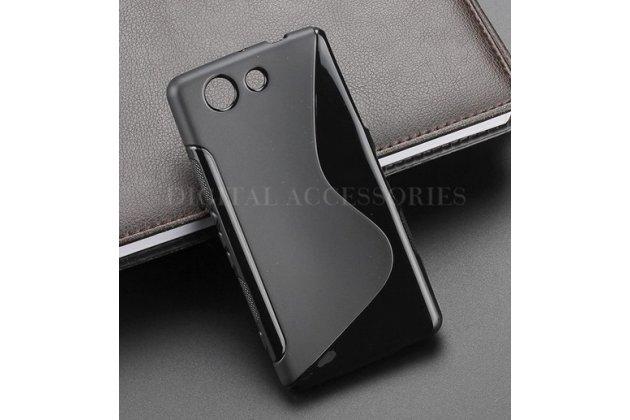 Ультра-тонкая полимерная из мягкого качественного силикона задняя панель-чехол-накладка для sony xperia z4 compact черный