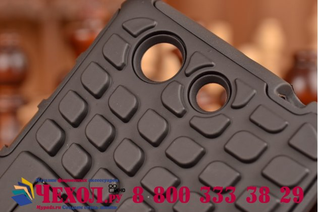Противоударный усиленный ударопрочный чехол-бампер-пенал для sony xperia z4 compact черный
