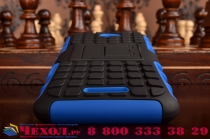 Противоударный усиленный ударопрочный чехол-бампер-пенал для sony xperia e4/ e4 dual синий