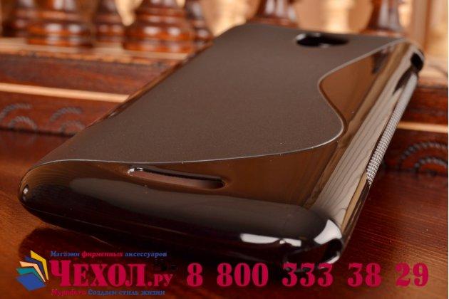 Ультра-тонкая полимерная из мягкого качественного силикона задняя панель-чехол-накладка для sony xperia e4/ e4 dual e2105/e2115 черная