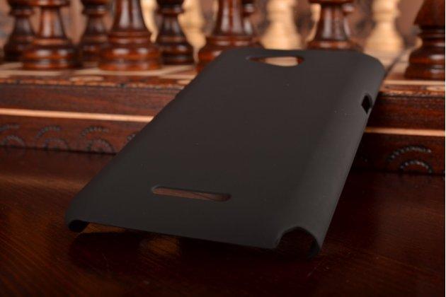 Задняя панель-крышка-накладка из тончайшего и прочного пластика для sony xperia e4g/ e4g dual e2003/e2033 черная