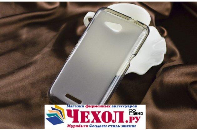 Ультра-тонкая полимерная из мягкого качественного силикона задняя панель-чехол-накладка для sony xperia e4g/ e4g dual e2003/e2033 черная