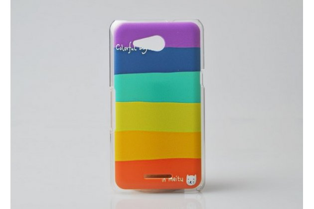 "Необычная из легчайшего и тончайшего пластика задняя панель-чехол-накладка для sony xperia e4g/ e4g dual e2003/e2033 ""тематика все цвета радуги"""