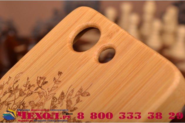 Деревянная из натурального бамбука задняя панель-крышка-накладка для sony xperia z3 compact d5803