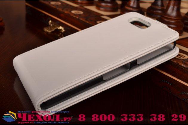 Вертикальный откидной чехол-флип для сони з3 компакт д5803 белый кожаный