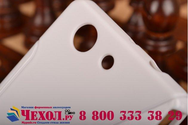 Ультра-тонкая полимерная из мягкого качественного силикона задняя панель-чехол-накладка для sony xperia z3 compact d5803 белая