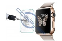 Защитное закалённое противоударное стекло премиум-класса из качественного японского материала с олеофобным покрытием для часов apple watch 38mm