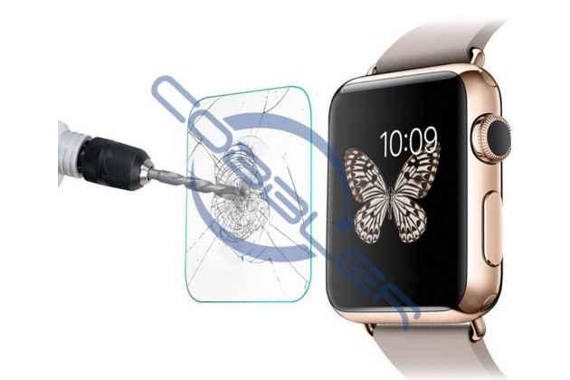 Защитное закалённое противоударное стекло премиум-класса из качественного японского материала с олеофобным покрытием для часов apple watch series 1/2/3 38mm