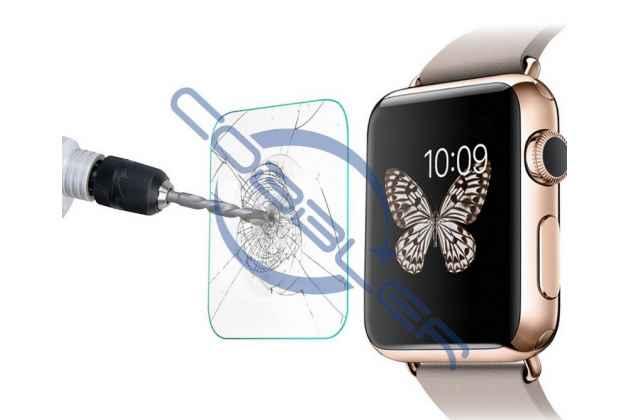 Защитное закалённое противоударное стекло премиум-класса из качественного японского материала с олеофобным покрытием для часов apple watch series 1/2/3 42mm