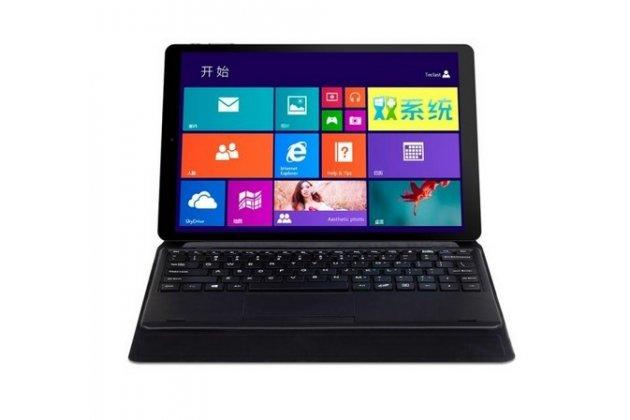 """Чехол со съёмной bluetooth-клавиатурой и тачпадом для teclast x16hd 10.6"""" черный кожаный + гарантия"""
