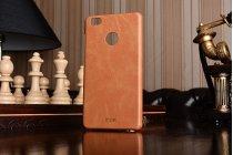 Роскошная элитная премиальная задняя панель-крышка для xiaomi mi 4s из качественной кожи буйвола коричневый