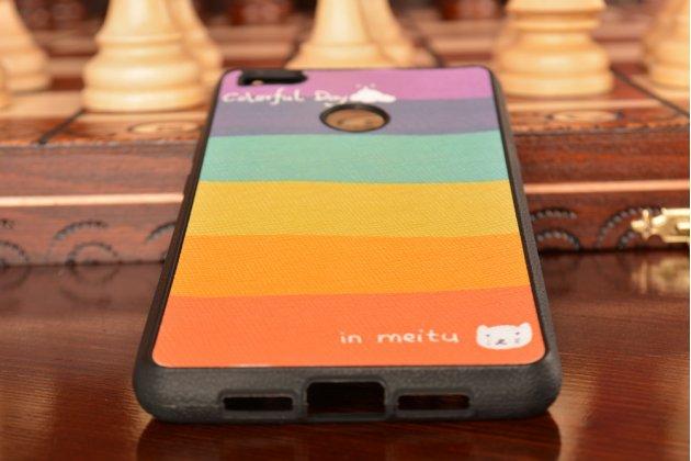 """Ультра-тонкая полимерная из мягкого качественного силикона задняя панель-чехол-накладка для xiaomi mi 4s тематика """"все цвета радуги"""""""