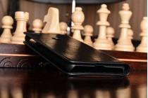 Чехол-книжка из качественной импортной кожи с подставкой застёжкой и визитницей для xiaomi mi 4s черный