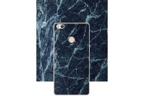 Из тончайшего прочного пластика задняя панель-крышка-накладка с рисунком под мрамор для xiaomi mi 4s  цвет малахит