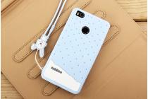 """Необычная уникальная полимерная мягкая задняя панель-чехол-накладка для xiaomi mi 4s """"тематика андроид в черничном  шоколаде"""""""