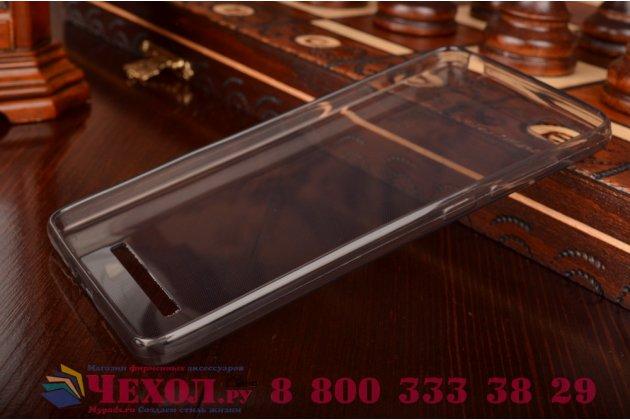 Ультра-тонкая полимерная из мягкого качественного силикона задняя панель-чехол-накладка для xiaomi mi 4c черная