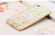 """Роскошная задняя панель-чехол-накладка из мягкого силикона с объемным 3d изображением на xiaomi mi 4i/xiaomi mi 4с с безумно красивым рисунком тематика """"цветы"""""""