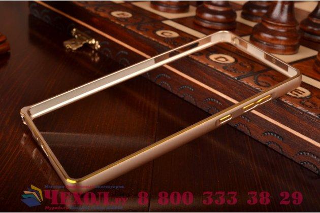 Ультра-тонкий чехол-бампер для xiaomi mi 4i золотой металлический