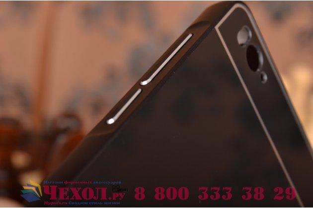 Металлическая задняя панель-крышка-накладка из тончайшего облегченного авиационного алюминия для xiaomi mi 4i черная