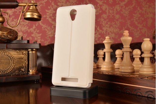 """Чехол-книжка для xiaomi redmi note 2/ note 2 prime 5.5""""  белый с окошком для входящих вызовов водоотталкивающий"""