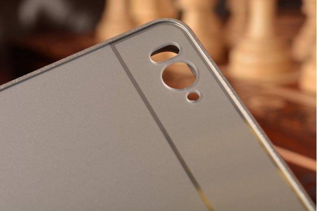 Металлическая задняя панель-крышка-накладка из тончайшего облегченного авиационного алюминия для xiaomi mi 4c серебристая