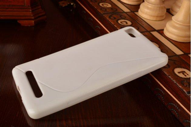 Ультра-тонкая полимерная из мягкого качественного силикона задняя панель-чехол-накладка для xiaomi mi 4c белая