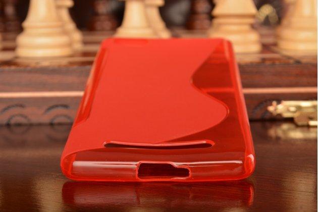Ультра-тонкая полимерная из мягкого качественного силикона задняя панель-чехол-накладка для xiaomi mi 4c красная
