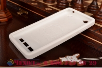 """Необычная уникальная полимерная мягкая задняя панель-чехол-накладка для xiaomi mi 4i """"тематика андроид в белом шоколаде"""""""