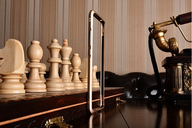 """Ультра-тонкий чехол-бампер со стразами для xiaomi mi5s 5.15"""" золотой металлический"""