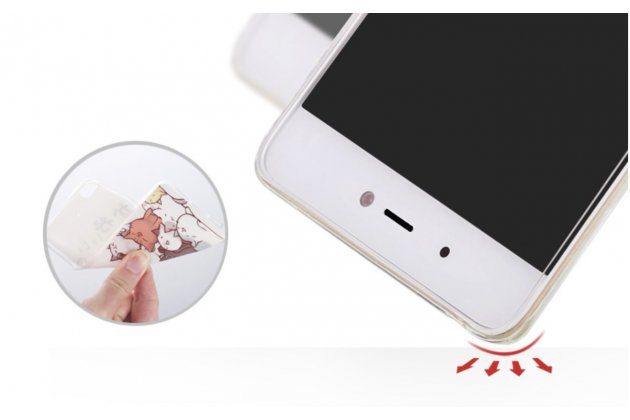 """Задняя панель-чехол-накладка из прозрачного 3d  силикона с объёмным рисунком для xiaomi mi5s 5.15""""  """"тематика девочка"""" которая огибает логотип чтобы была видна марка телефона"""