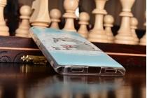 """Задняя панель-чехол-накладка из прозрачного 3d силикона с объёмным рисунком для xiaomi mi5s 5.15"""" """"тематика толстый кот"""""""