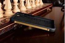 """Противоударный усиленный ударопрочный чехол-бампер-пенал для xiaomi mi5s 5.15"""" золотой"""