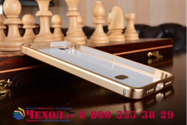 """Металлическая задняя панель-крышка-накладка из тончайшего облегченного авиационного алюминия для  xiaomi mi5s 5.15"""" золотая"""