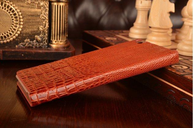 """Роскошный эксклюзивный чехол с объёмным 3d изображением кожи крокодила коричневый для xiaomi mi note/ mi note pro 5.7"""". только в нашем магазине. количество ограничено"""