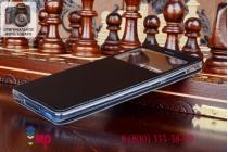 """Чехол-книжка для xiaomi mi note/ mi note pro 5.7"""" черный кожаный с окошком для входящих вызовов"""