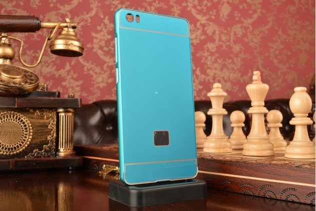 Металлическая задняя панель-крышка-накладка из тончайшего облегченного авиационного алюминия для xiaomi mi note/mi note pro голубая