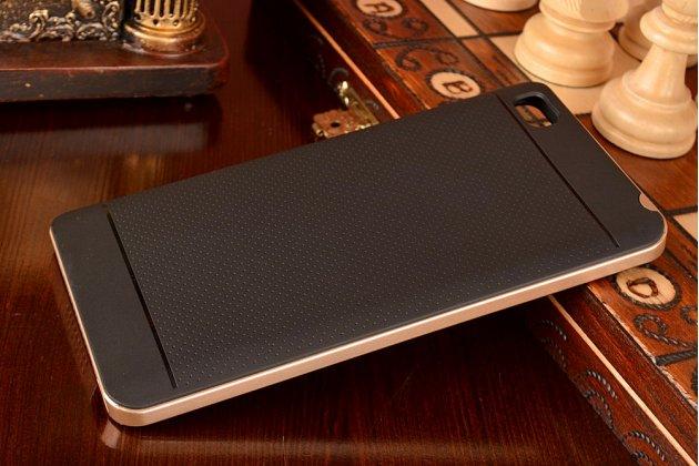 Противоударный усиленный ударопрочный чехол-бампер-пенал для xiaomi mi note/mi note pro черный