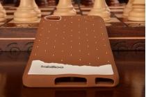 """Необычная уникальная полимерная мягкая задняя панель-чехол-накладка для xiaomi mi note/mi note pro """"тематика андроид в тёмном шоколаде"""""""