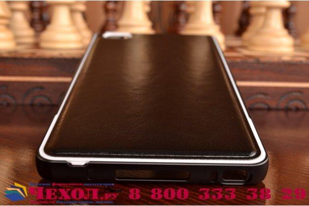 Роскошная элитная премиальная задняя панель-крышка на металлической основе обтянутая импортной кожей для xiaomi mi note/mi note pro королевский черный