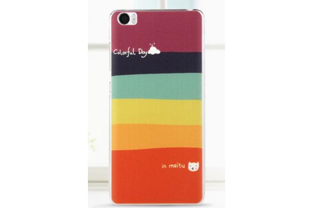 """Необычная из легчайшего и тончайшего пластика задняя панель-чехол-накладка для xiaomi mi note/mi note pro """"тематика все цвета радуги"""""""