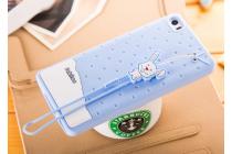 """Необычная уникальная полимерная мягкая задняя панель-чехол-накладка для xiaomi mi note/mi note pro  """"тематика андроид в черничном шоколаде"""""""