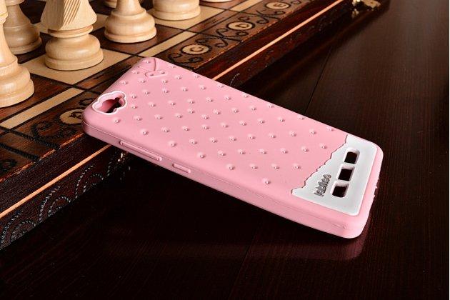"""Необычная уникальная полимерная мягкая задняя панель-чехол-накладка для xiaomi mi 4i """"тематика андроид в клубничном шоколаде"""""""