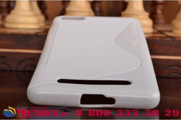 Ультра-тонкая полимерная из мягкого качественного силикона задняя панель-чехол-накладка для xiaomi mi 4i белая