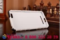 Противоударный усиленный ударопрочный чехол-бампер-пенал для xiaomi mi 4i/4с белый